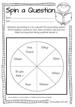 Self Questioning Guided Reading Worksheets By Everything