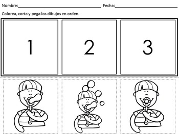 Sequencing Worksheets In Spanish By Bilingual Classroom