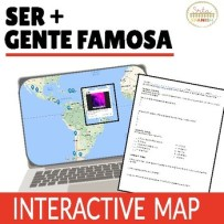 Ser De and Origin Online Interactive Map Activity - Click to download!