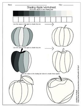Shading Apple Worksheet By Art N Stuff
