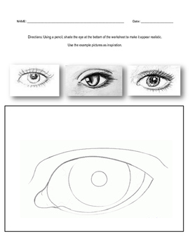 Shading Eye Worksheet By The Finer Things In Art