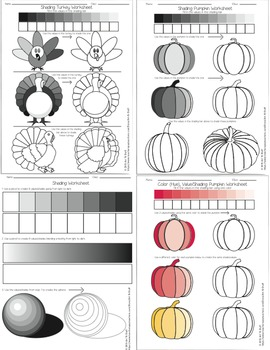 Shading Worksheet Bundle By Art N Stuff