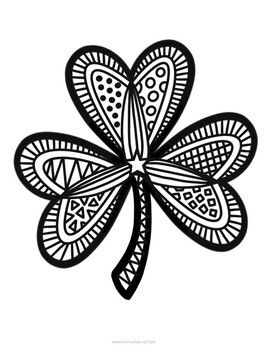 Shamrock Coloring Pages Worksheets Teaching Resources Tpt