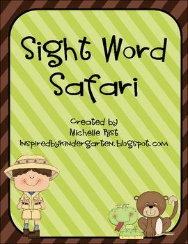 Sight Word Safari Word Work By Michelle Rist