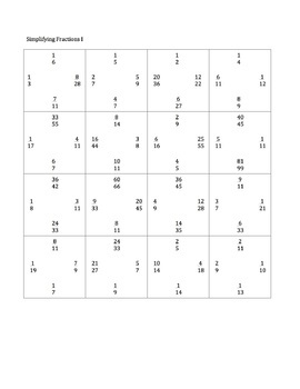 photograph about Simplifying Fractions Game Printable named Simplifying Fractions Matching Match Printable Game titles Entire world