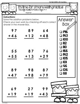 S More Math Two Digit Addition Amp Subtraction Worksheets