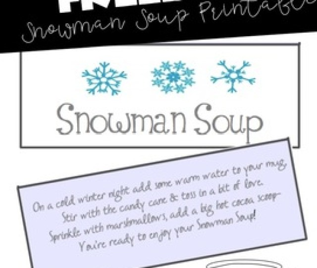 Snowman Soup Printable With Poem