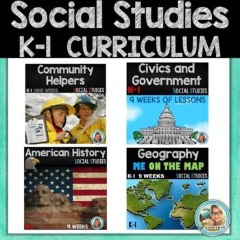Kindergarten & First Grade Social Studies Curriculum Bundle