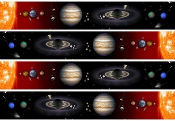 Solar System Display Board Border by Juela Champion | TpT
