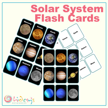 Solar System Flash Cards - Space Vocabulary Flash Cards by ...