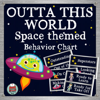 Space Themed Classroom Decor Behavior Chart Outta This World