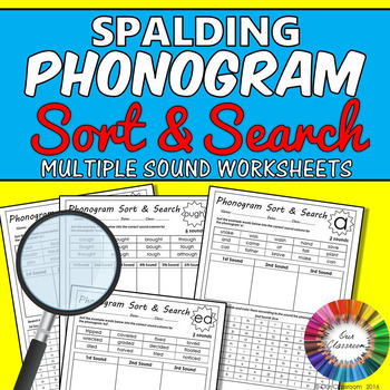 Spalding Phonogram Worksheets Sort And Search All