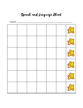 Speech And Language BehaviorSticker Chart By Kelsey Leigh Speech