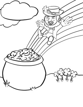 St Patrick S Day Leprechaun Coloring Pages By Valouch S Vibrant Resources