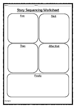 Story Sequencing Worksheet By Laminating Lady