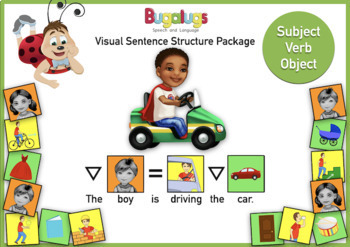 Subject Verb Object Visual Sentence Structure Package 1 | TpT