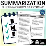 Summarizing Worksheet