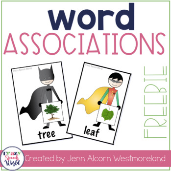 Super Hero Word Associations Freebie! by Jenn Alcorn   TpT