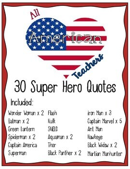 Superhero Inspiration Quote Posters By All American