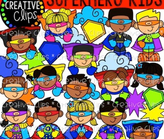 Superhero Clipart Kids Creative Clips Clipart