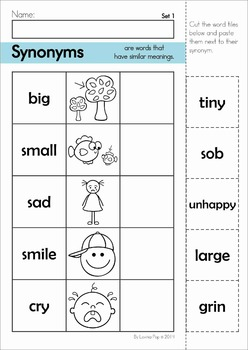 Synonyms Center And Worksheets By Lavinia Pop