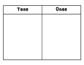 Tens and Ones Work Mat by Charcee Day Teachers Pay Teachers