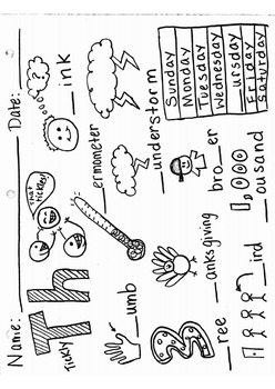 Th Digraph Worksheet By Robyn Brooke