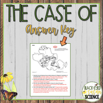 The Case Of Alfred Wegener And Harry Hess Ngss Ms Ess2 3