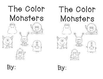 The Color Monsters Printable Sight Word Reader By Krazy In
