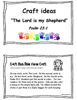 Brian patrick flynn photo by: The Lord Is My Shepherd Bible Time Activities For Psalm 23 1 Tpt