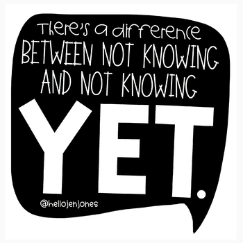 The Power Of Yet Poster By Hello Literacy