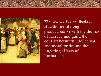 The Scarlet Letter Background Powerpoint By Owls AP English Bazaar