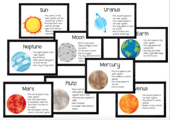 The Solar System - 32 Posters/Flashcards by Miss Samantha ...