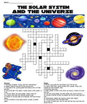 The Solar System and the Universe Crossword Puzzle | TpT