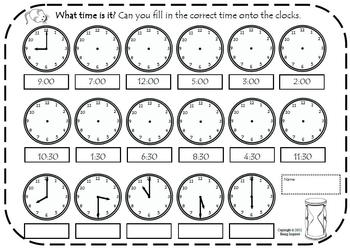 Image Result For Telling Time Math
