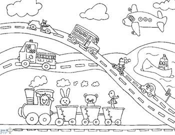 Transportation Coloring Sheet Worksheets Teaching Resources Tpt