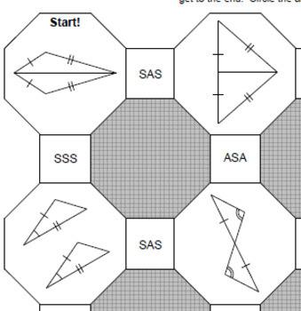 Triangles Congruent Triangles 5 Mazes
