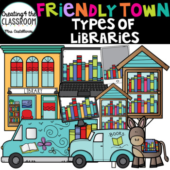 Types of Libraries Clipart Library Clip art by Creating4