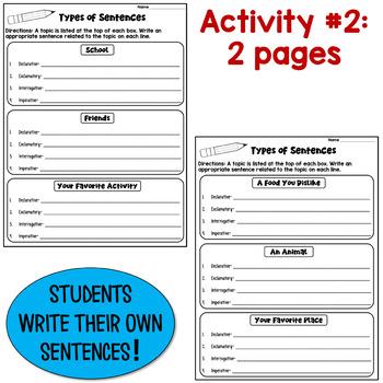 Types Of Sentences Worksheets Declarative Imperative