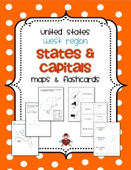 The states are listed in alphabetical order to the right with their abbreviations. Us West Region States Capitals Maps By Mrslefave Tpt