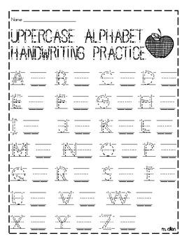 Uppercase Handwriting Practice Sheet By Miranda Allen TpT