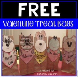 Valentine Treat Bags Freebie Craft