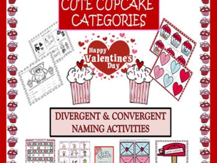 Valentine's Day Cute Cupcake Categories: Divergent & Conve