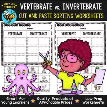 Vertebrates And Invertebrates Sorts