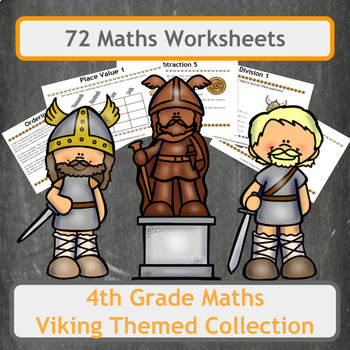 Viking Themed Maths Worksheet Bundle for 4th Grade Classes   TpT Viking Themed Maths Worksheet Bundle for 4th Grade Classes