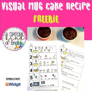 visual microwave mug cake recipe by a