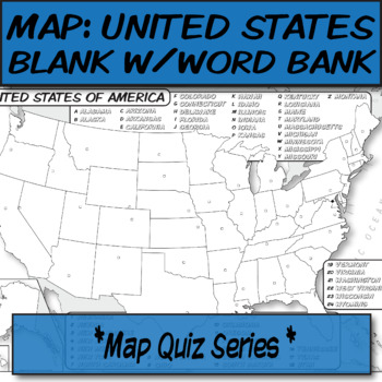 With 50 states in total, there are a lot of geography facts to learn about the united states. Word Bank United States Political Map Quiz Series By The Human Imprint