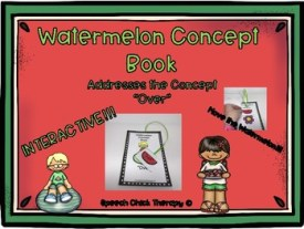 Watermelon Concept Book for Speech Therapy