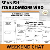 Find Someone Who Spanish Weekend Chat | Click here for the FREE download!