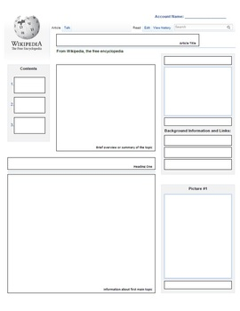 Wikipedia Templates for Non-Fiction Writing Projects by ...